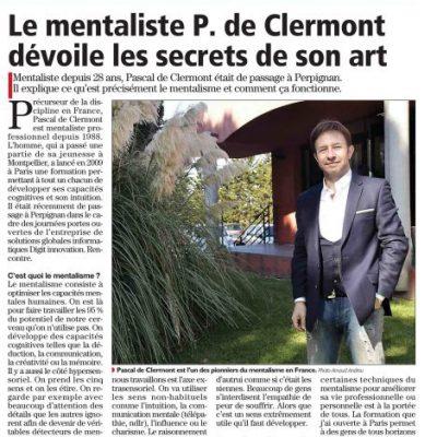 Actualités portail Pascal de Clermont Mentaliste et coach mental intuitif